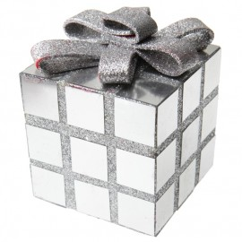 Cube décoration Noël argent