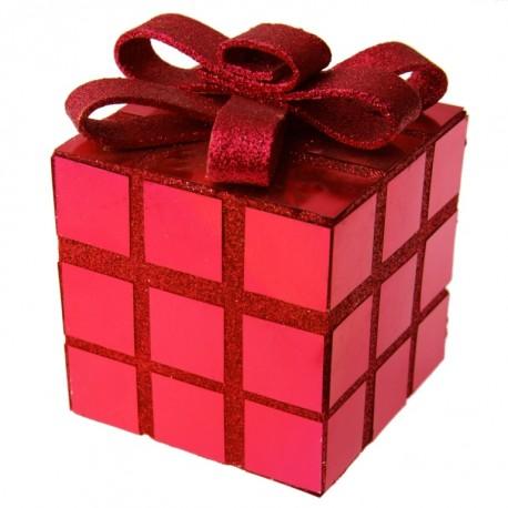 Cube décoration Noël rouge