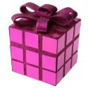 Cube décoration Noël fuchsia