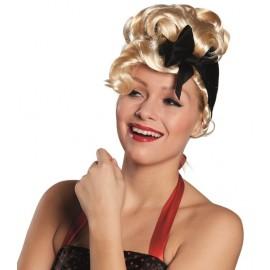 Perruque années 50 blonde femme