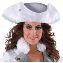 Chapeau tricorne blanc femme luxe