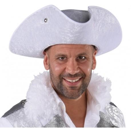Chapeau tricorne blanc homme luxe