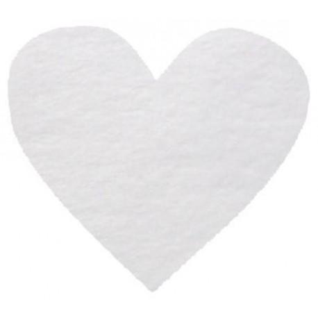 Confettis Coeurs Blanc Non Tisse