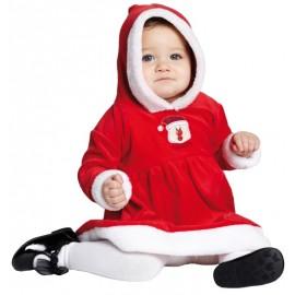Déguisement Mère Noël bébé fille Little Miss Santa luxe