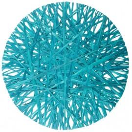 Set de table raphia turquoise 34 cm les 4