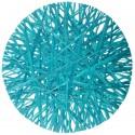 Sets de table raphia turquoise 34 cm les 4