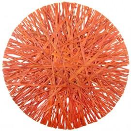 Set de table raphia orange 34 cm les 4