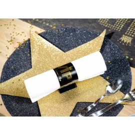 Sets de table étoile or pailletée 38 cm les 2