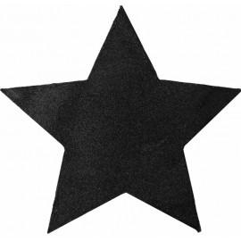 Set de table étoile noire pailletée 38 cm les 2