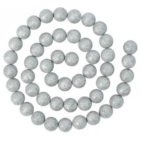 Guirlande boules pailletées argent 120 cm