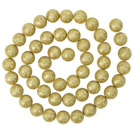 Guirlande boules pailletées or 120 cm