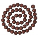 Guirlande boules pailletées chocolat 120 cm