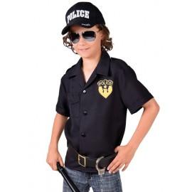 Déguisement chemise policier garçon luxe