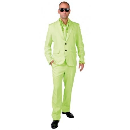 Déguisement Costume fluo vert homme luxe