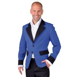 Déguisement veste bleu cobalt homme luxe