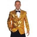 Déguisement veste paillettes sequin or homme chic luxe