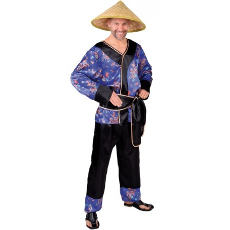Déguisement Chinois Mister Wong homme luxe