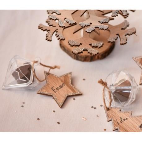 Boîte à dragées diamant plexi les 4- Boîte diamant