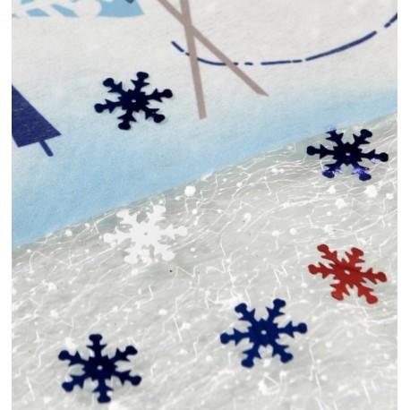 Confettis de table flocon de neige bleu 20 g