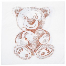 Serviette de table Ourson en papier les 20