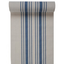 Chemin de table tradition bleu coton 3 M