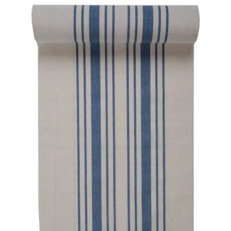 Chemin de table tradition bleu coton 3 M
