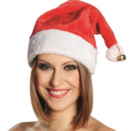 Bonnet de Noël adulte avec grelot   Bonnet Père Noël Mère Noël Santa 1a44c28d903