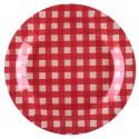 Assiettes carton vichy rouge 22.5 cm les 10