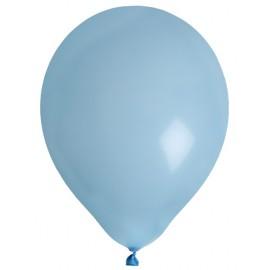 Ballons bleu ciel en latex 23 cm les 8
