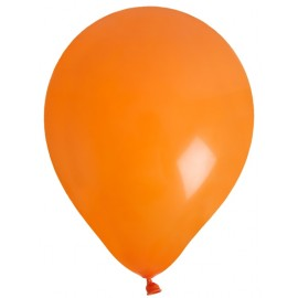 Ballons en latex orange 23 cm les 8