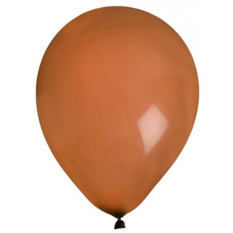 Ballons chocolat en latex 23 cm les 8
