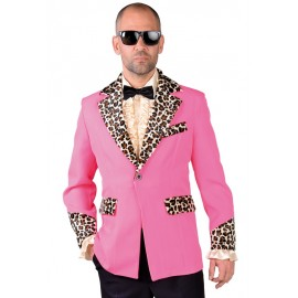 Déguisement 50's veste Teddy Boy rose homme luxe