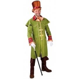 Déguisement manteau cocher Victorien homme luxe