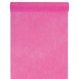 Chemin de table intissé fuchsia 10 M