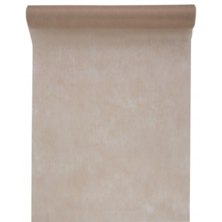 Chemin de table intissé taupe 10 M