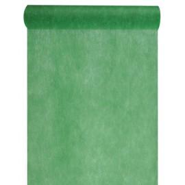 Chemin de table intissé vert sapin 10 M