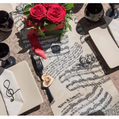 Chemin de table musique ange coton 3 M