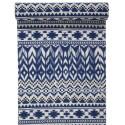 Chemin de table ethnique coton bleu 3 M