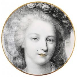 Assiette carton Versailles la reine 22.5 cm les 10