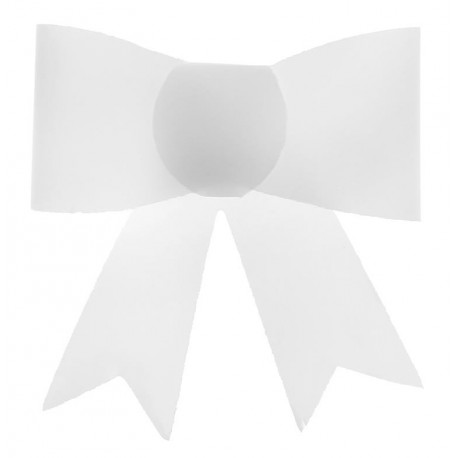Mini noeud autocollant blanc les 4