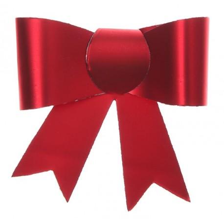Mini noeud autocollant rouge les 4