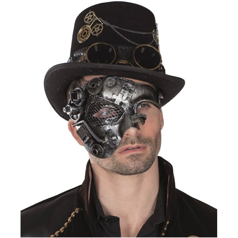 demi masque steampunk homme masque steampunk adulte. Black Bedroom Furniture Sets. Home Design Ideas