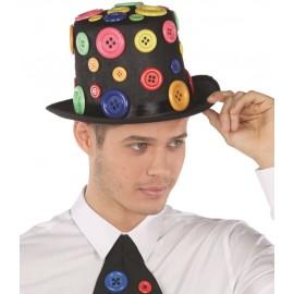 Chapeau haut de forme avec boutons homme