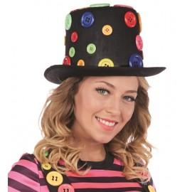 Chapeau haut de forme avec boutons femme