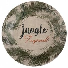 Assiette carton Jungle Tropical 22.5 cm les 10