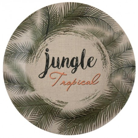 Assiette carton Jungle Tropical 22.5 cm les 10