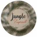 Assiettes carton Jungle Tropical 22.5 cm les 10