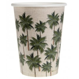 Gobelet carton jungle tropical les 10