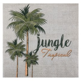 Serviette de table jungle tropical papier les 20