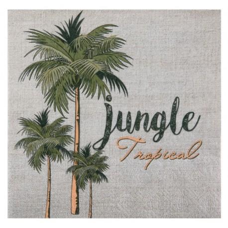 Serviette de table jungle tropical papier les 20